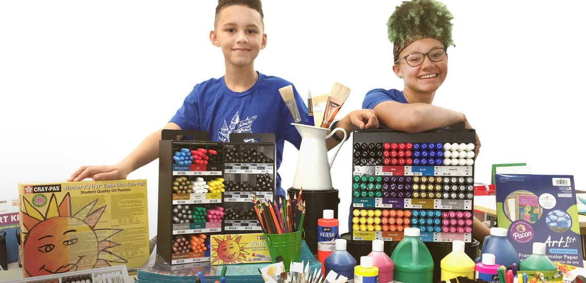 fa coleman kids art supplies darkened