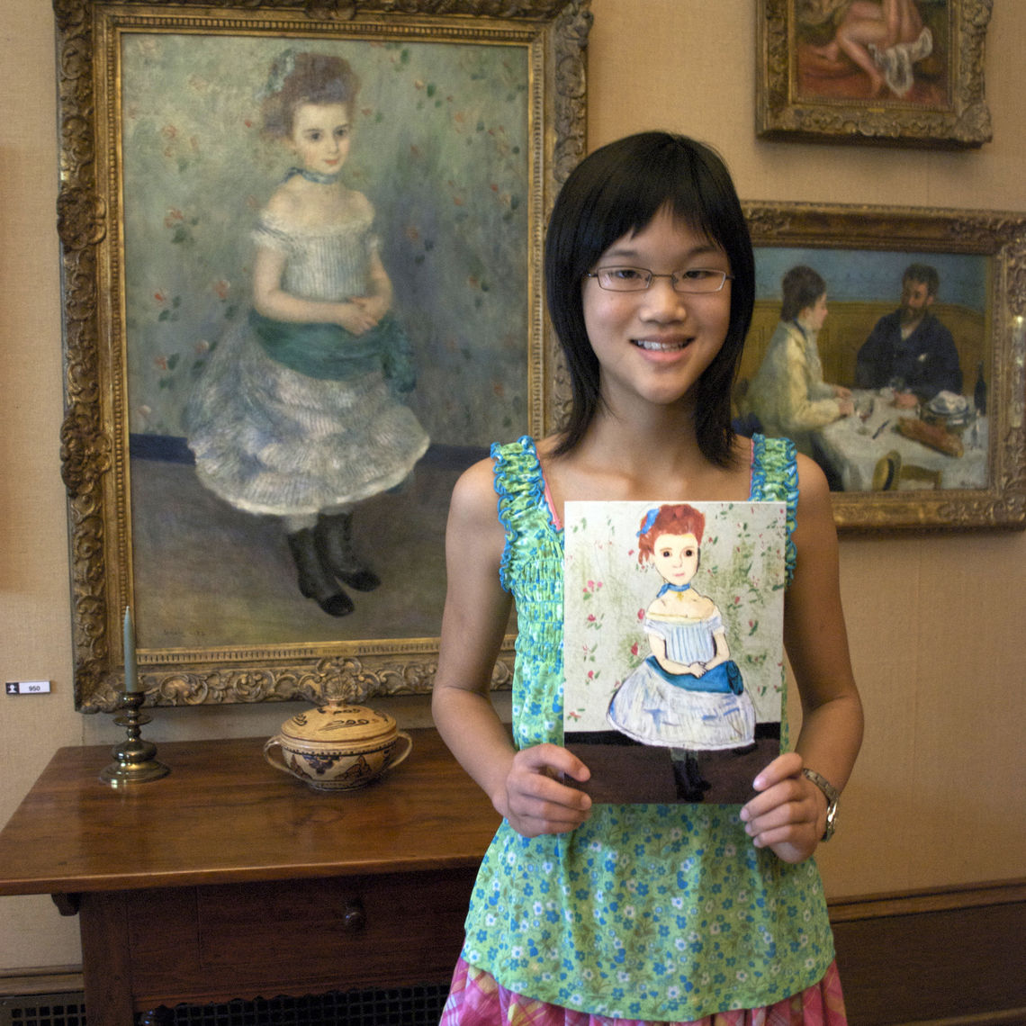 Alice With Her Artwork at The Barnes