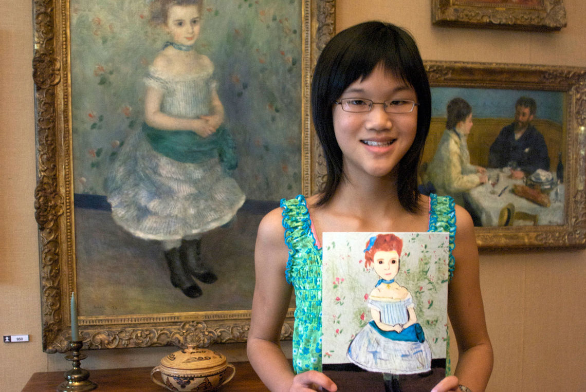Alice With Her Art at the Barnes Foundation